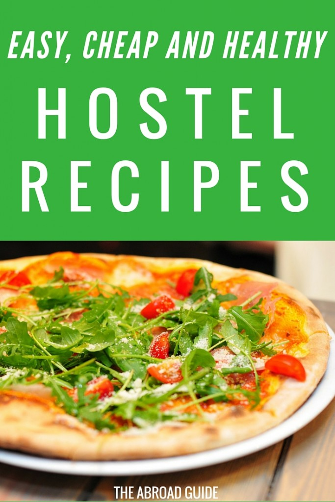 6 Easy, Cheap, and Healthy Hostel Recipes. Make these 6 meals while you're in a hostel to save money and also to eat a bit healthier. Make use of the hostel kitchen!