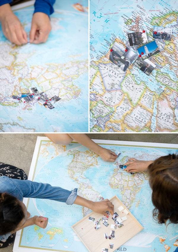 travel map diy, travel memories diy, study abroad diy photos