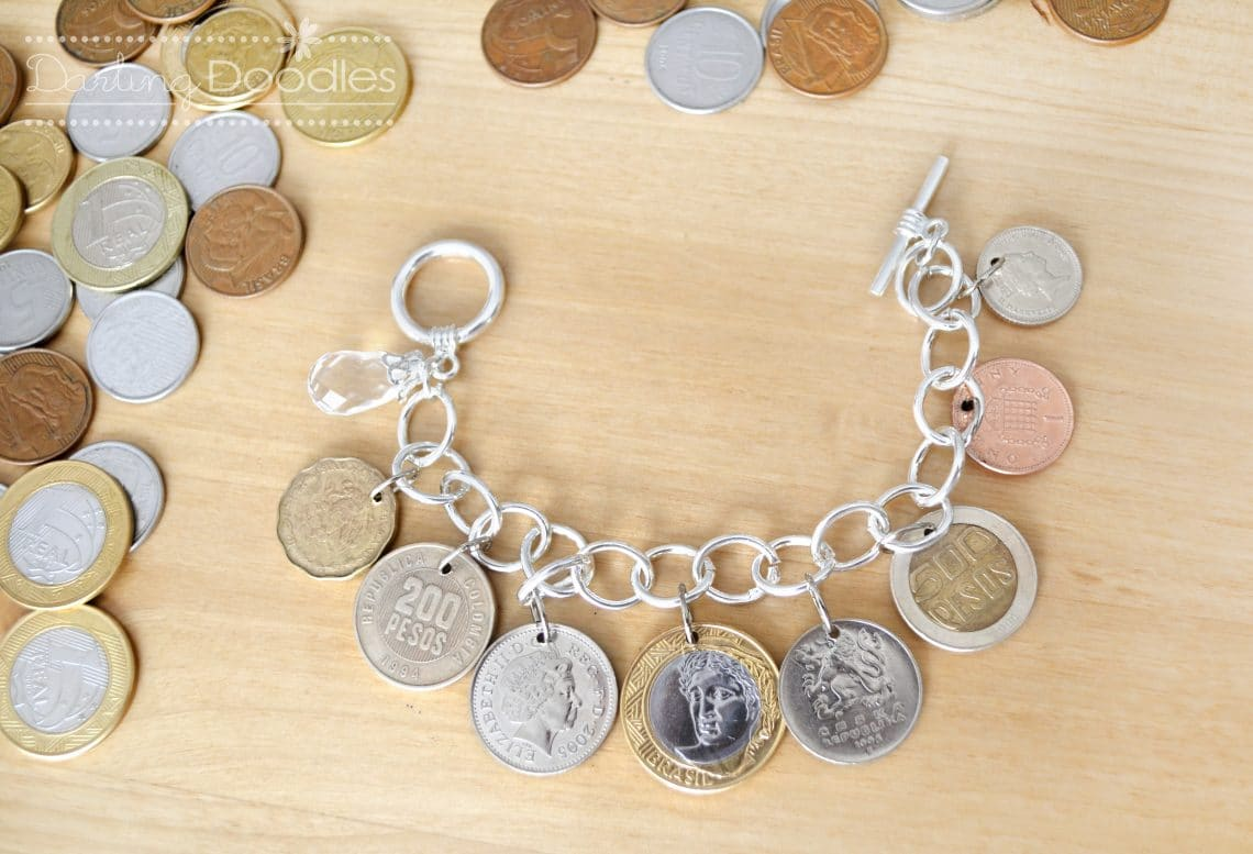 what to do with coins from different counties, coin jewelry diy, study abroad diy