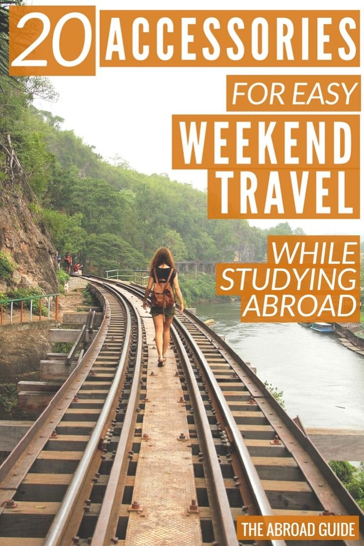 These smart accessories will help you have an easier time on your weekend travels while studying abroad. They'll help you pack more in your carry-on bag, keep your items safe, and have fun while traveling on the weekends during your study abroad semester.
