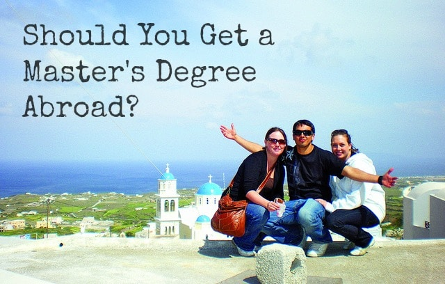 How to get a master degree