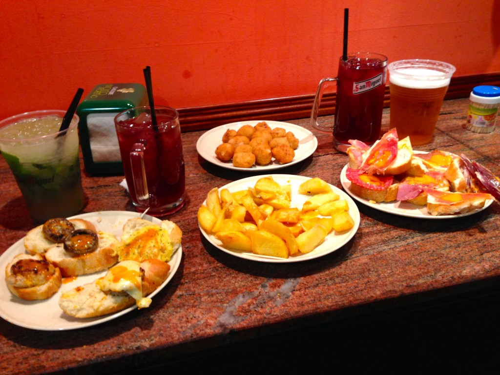 where to eat in madrid while studying abroad, tapas study abroad madrid