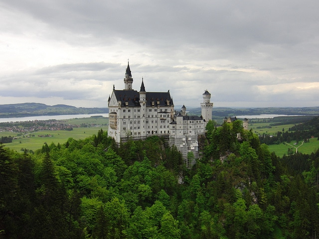 Neuschwanstein Castle, walt disney castle munich