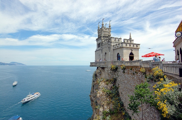 Swallows nest, cool castles in Europe, castles to visit in europe