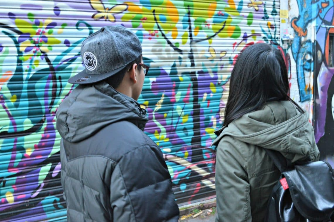 Students with Street art