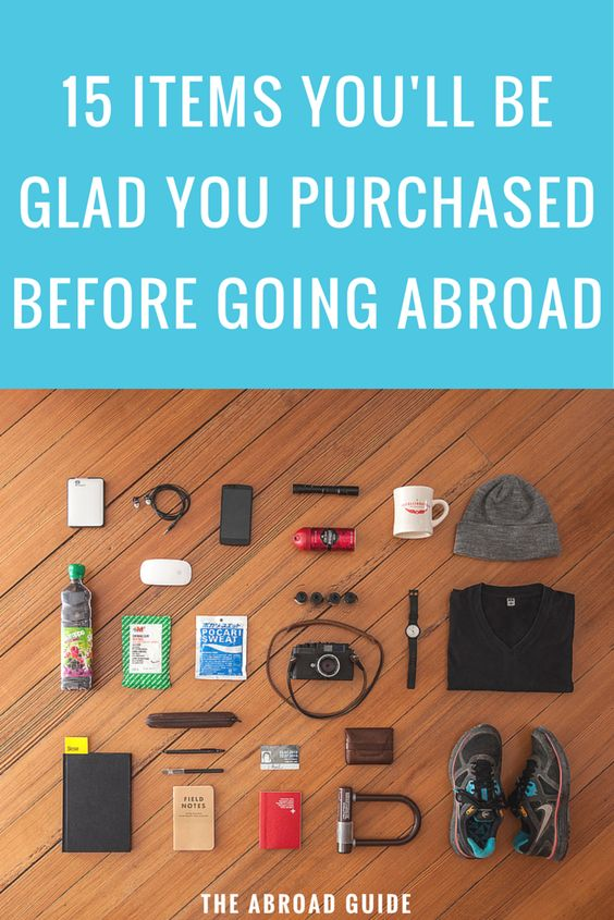 These must-have items are common for study abroad students to forget to bring with them for their study abroad semester. Get these items before you leave for your semester abroad.
