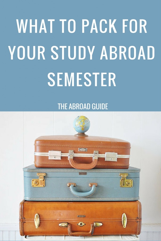 What to pack for your study abroad semester - a packing list for your study abroad semester, including a free printable packing list (one for guys and one for girls). Don't forget anything when packing for study abroad with this packing list!