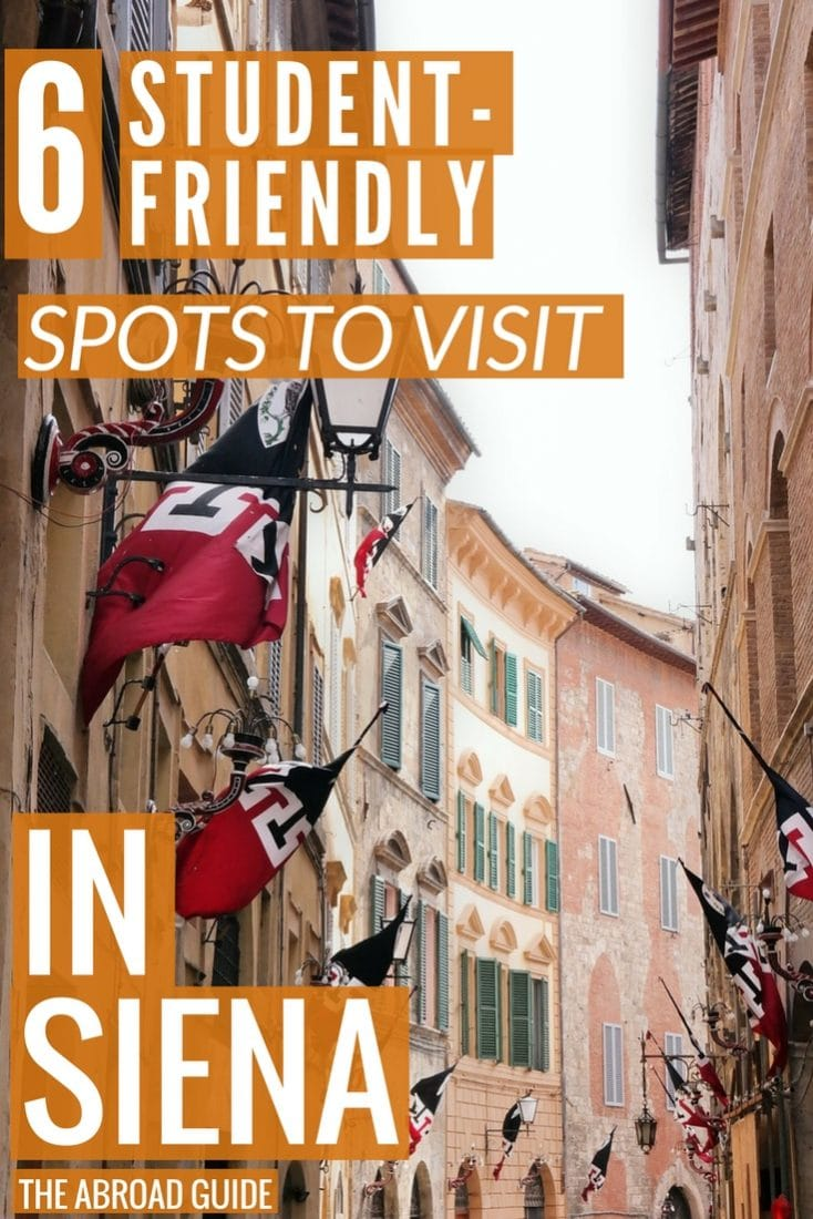 Student-friendly spots to visit in Siena. If you're studying abroad or visiting Siena as a student, these are great spots to visit to relax, eat and drink in Siena.