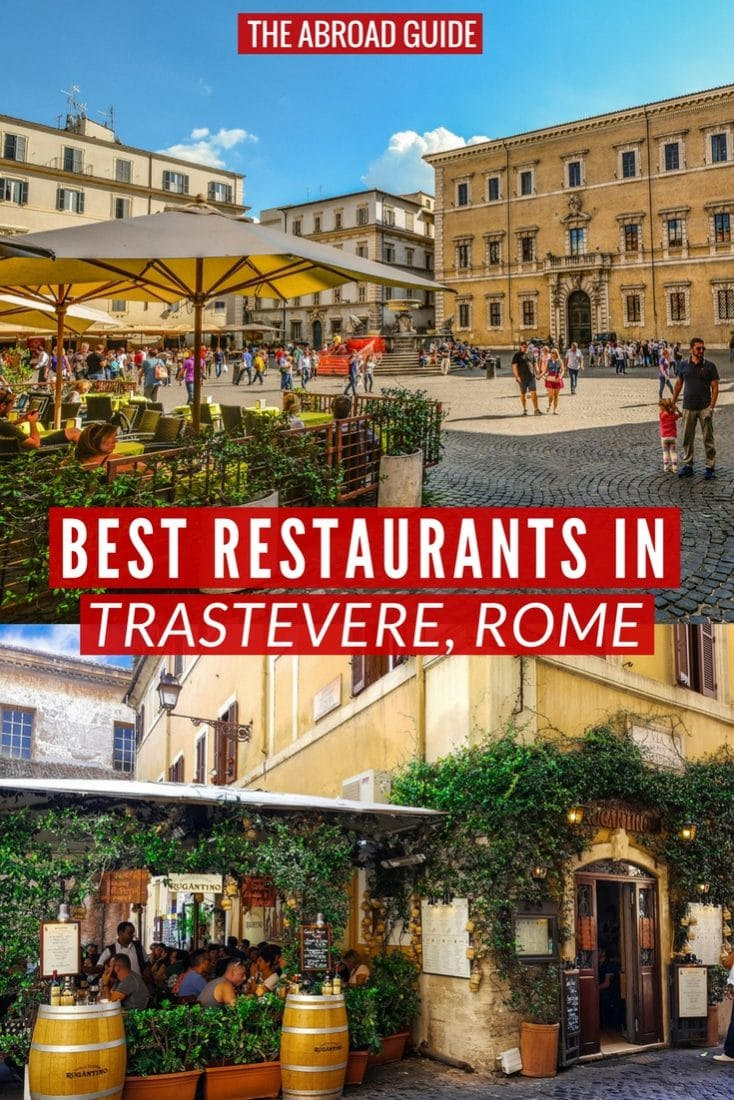 Eat like a local at these top restaurants in Trastevere, Rome. Trastevere is a locally-loved area where you can eat and drink well. These are the best food spots in Rome!