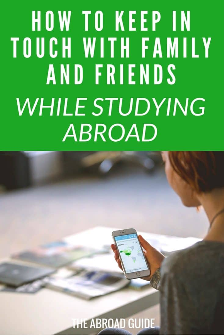 How to easily keep in touch with family and friends back in the US while you're studying abroad. Tips for keeping in contact with people back home during your study abroad semester.