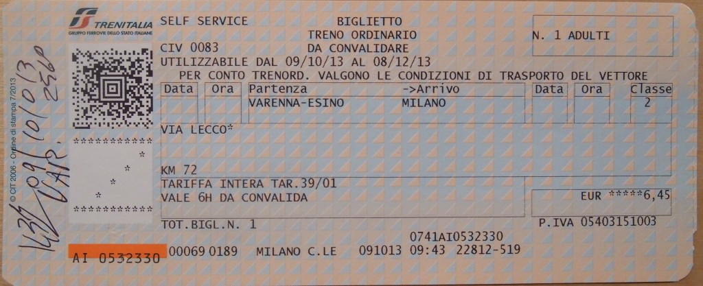 how to get train tickets in italy