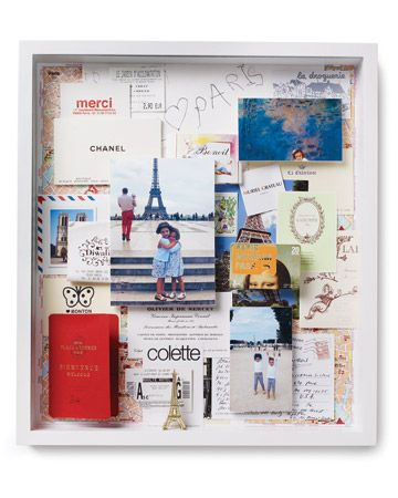 travel shadow box, study abroad shadow box