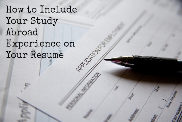 how to include study abroad on resume