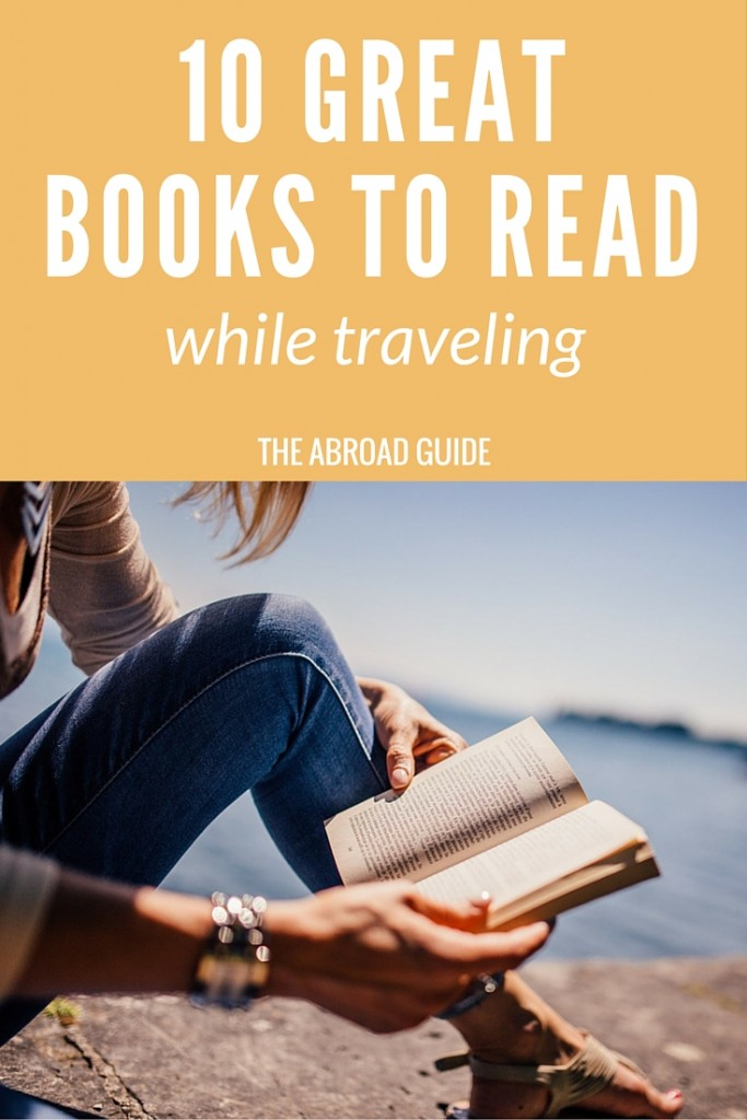 Get these 10 books that are perfect to read while traveling. Pass the time on the train or plane with a good travel-themed book. https://theabroadguide.com/books-to-read-while-traveling