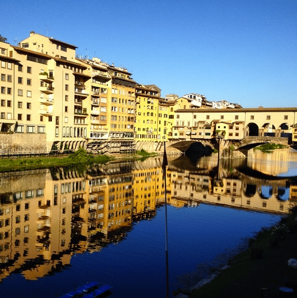 Ponte Vecchio along the Arno