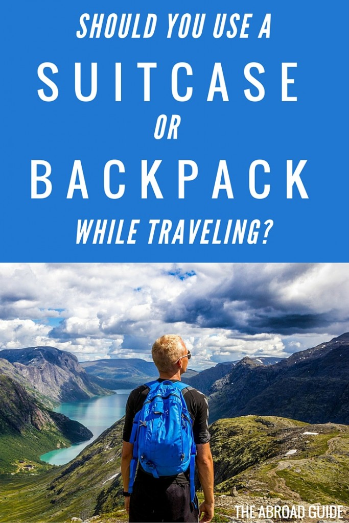 Should you use a suitcase or backpack while traveling during your study abroad semester? We break down the pros and cons of using a suitcase vs a backpack, and recommend both suitcases and backpacks fit for travelers or study abroad students.