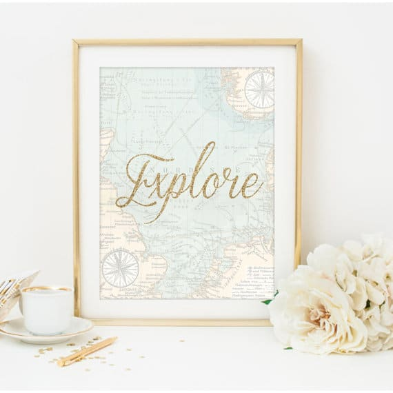 These travel quote prints and posters on Etsy are perfect for travel lovers who want some art to put on their walls. Get one of these travel prints for someone who just studied abroad or who loves traveling-- great Christmas gifts!