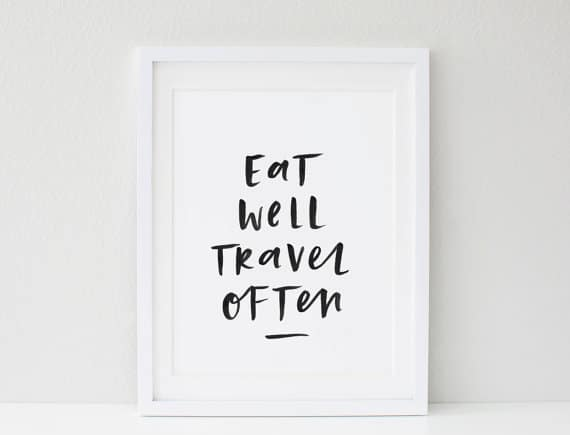 These travel quote prints and posters on etsy are perfect for travel lovers who want some