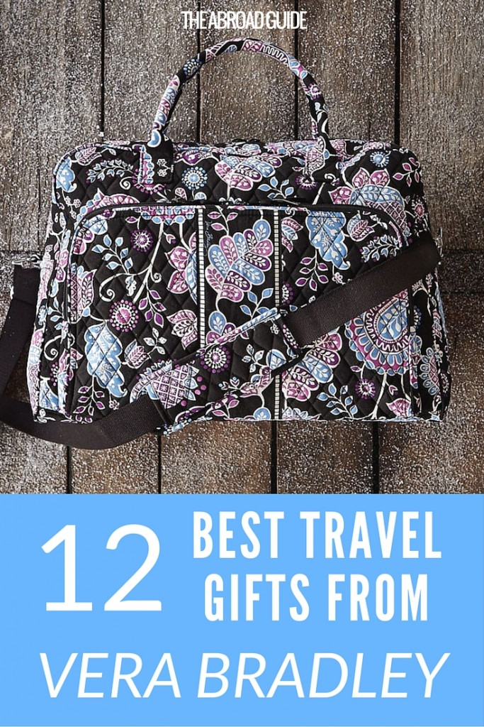 These 12 gifts are great for college travelers that you need gift ideas for. Click through to this Vera Bradley gift guide for pretty carry-on bags, travel organizers, passport protectors and more, all in gorgeous Vera Bradley print.