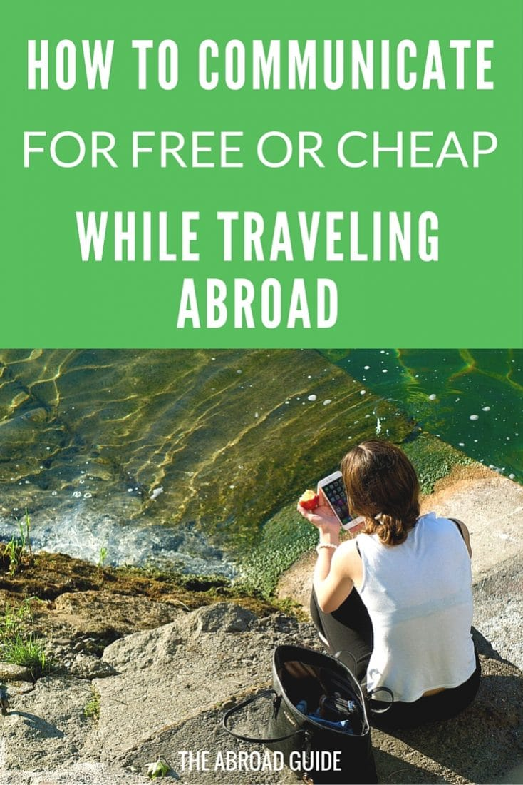 How to Communicate While Traveling Abroad (for Free or Cheap)- when traveling, these are the easiest and safest ways to stay in touch with family and friends while you're abroad. Instead of paying for international data on your smartphone, use these tips for free or cheap communication while traveling abroad.