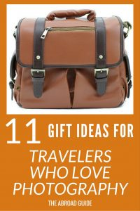 Gift Ideas for Travelers who like to take photos. These gifts will help your favourite traveler to take better travel photos while they're on vacation.