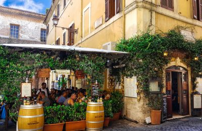 Top restaurants in Trastevere Rome