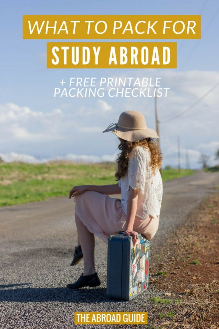 What to Pack for Study Abroad. A complete Study Abroad Packing List, including a free printable study abroad packing checklist to help you pack everything you need for study abroad